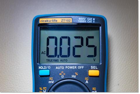 身体電圧を測ってみた